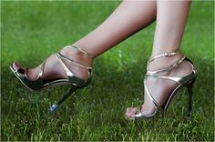 High heel protectors - black, white, silver, gold, etc.  Never have to tippy toe through the grass again!!! HOORAY - Someone was listening!! $10