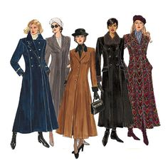 Princess Seam Coat Pattern Uncut Bust 30 32 Vogue by CynicalGirl
