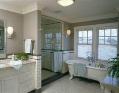 Bathroom Decorating Ideas With Clawfoot Tub clawfoot tub with separate shower | clawfoot tub, beadboard