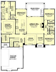 European style house plan 3 beds 2 5 baths 2146 sq ft plan 430 136