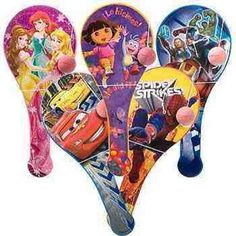 Paddle Balls Hello Kitty, SpongeBob, Mickey, Minnie, Toy Story, Cars, Dora, Etc.