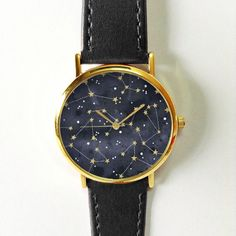 Constellation Watch Watches for Women Ladies Leather Vintage Accessories Jewelry Stars Planets Galaxy Woman Sky Gift Ideas Trendy Freeforme