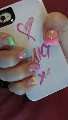 New Nails Pastel Design French Tips 58 Ideas Easter Nail Designs, French Nail Designs, Fall Nail Designs, Summer French Nails, Trendy Nail Art, Easter Nails, Flower Nails, Creative Nails, Holiday Nails