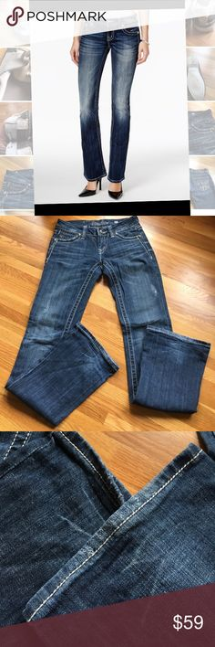 "Miss Me Bootcut Jeans Sz 26 JP5010C Style Excellent used condition. Light wear at hems as shown. Lots of stretch for flattering fit. Great price for coveted brand! Inseam 34"". Back rise 10.75"".  Front rise 7.75"". Miss Me Jeans Boot Cut"