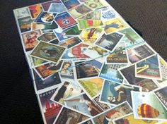This would be cool for the camper, get a postcard from everywhere you go and decorate the table with them.