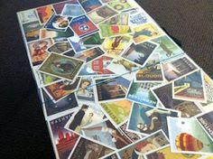 postcard table top display
