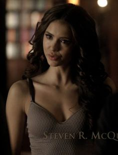 I am crazy about her hair! Nina Dobrev as Katherine Pierce