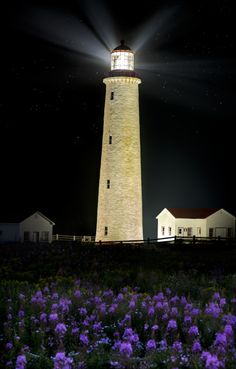 Cap Des Rosier Lighthouse, Gaspe, Quebec, established in 1878 and built in 1883 Lighthouse Lighting, Lighthouse Pictures, Candle On The Water, Beacon Of Light, Belle Villa, Le Havre, Light Of The World, Beautiful Places, Scenery