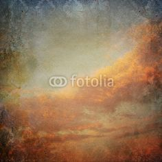 Vintage background with clouds in the sky