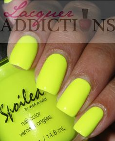 """Spoiled's """"Did I Dye it Too Blonde"""". Lacquer Addictions nail blog."""