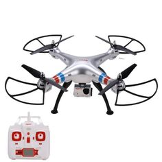 Coocheer Syma X8G 2.4GHz 4CH 6 Axis Headless Mode RC Drone Quadcopter with 8MP HD Camera