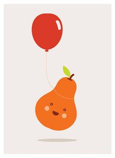 pear and balloon. :)