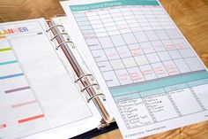 My No Brainer Easy to Use Meal Planner and Grocery List Sheet.   Stop trying to fit dinner in between your activities. Simply note your schedule on the meal planner before you start planning the week's meals. Includes a handy shopping list too!