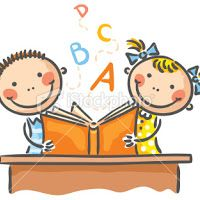 Illustration about Children reading a book together. Illustration of activities, children, together - 44606985 Drawing For Kids, Art For Kids, Kids Reading Books, Wild Animals Photos, Cat Crafts, Cute Family, Stick Figures, Kids Events, Free Vector Art