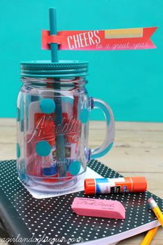 Insulated Mason Jar Tumblers--as teacher gifts! - A girl and a glue gun