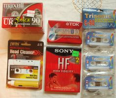 Blank Cassette Tapes  ///  Maxell UR Sony HF by fowlnfelines