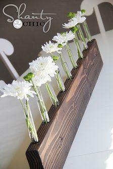 creative centerpieces :: Sharon @ mrs. hines class's clipboard on Hometalk :: Hometalk Vase Centerpieces, Vases Decor, Bud Vases, Flower Vases, Diy Flower, Clear Vases, Flower Crafts, Test Tube Crafts, Wooden Vase