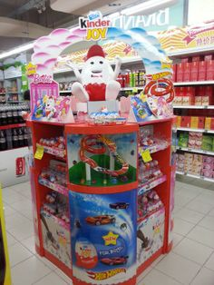 Kinder Joy Product Standee Supermarket Display Pallet Display, Pop Display, Point Of Purchase, Point Of Sale, Pop Design, Confectionery, Toy Chest, Retail, Kids