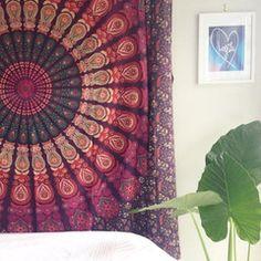 Purple Bohemian Mandala Tapestries Hippie Blanket for Beaches Dorm dec – Jaipur Handloom