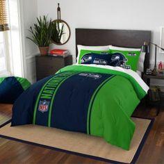 NFL Seattle Seahawks Embroidered Comforter Set - BedBathandBeyond.com