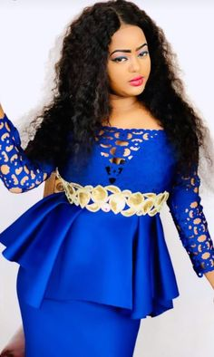 African Blouses, African Lace Dresses, African Fashion Dresses, African Inspired Fashion, African Print Fashion, African Attire, African Wear, Aso Ebi Lace Styles, African Models