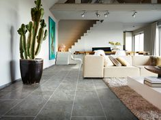 Zeera Slate 36952 - Stone Effect Luxury Vinyl Flooring - Moduleo