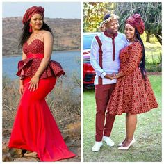 Sepedi Traditional Dresses, South African Traditional Dresses, Traditional Wedding Attire, Pedi Traditional Attire, Couples African Outfits, African Wear Dresses, African Attire, African Print Fashion, Africa Fashion