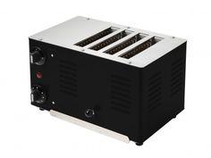 Rowlett Retro Regent 4 Slice Bread Toaster in Jet Black - Toasters - Electronics