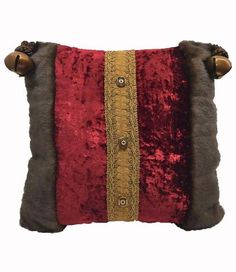 Holiday Pillow Faux Mink with Jingle Bells 13