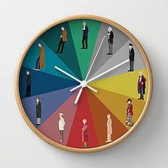 Doctor Who? Wall Clock by The Joyful Fox | Society6