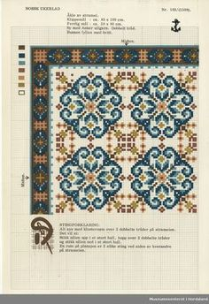 Crochet Border Stitch Museumssenteret i Hordaland Cross Stitch Tree, Cross Stitch Borders, Crochet Borders, Cross Stitch Samplers, Cross Stitch Charts, Cross Stitch Designs, Cross Stitching, Cross Stitch Embroidery, Embroidery Patterns