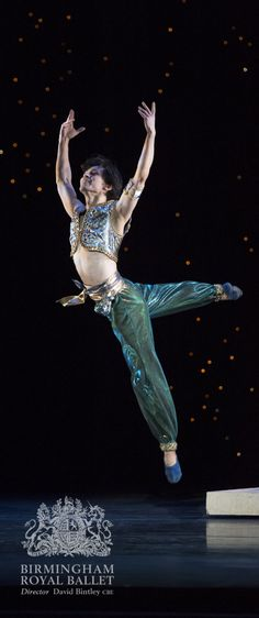 Birmingham Royal Ballet - Aladdin; César Morales as Aladdin; photo: Bill Cooper