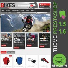 Thème Premium PrestaShop 1.5 et 1.6 pour site e-commerce dédié à la vente de vélos, cyclisme, VTT, pièces de vélos, pneus, cadres, casques, lunettes…