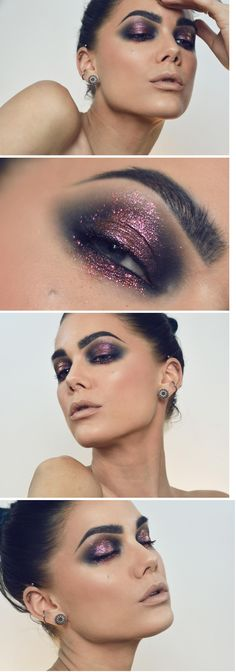 Pretty much convinced Linda can do no wrong with makeup...like many others, I'm in love with this look. Smoked out eyes with a hint of dark, rosy pink quartz shimmer. I'm. A. Fan.