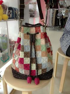 Drawstring Patchwork quilted!