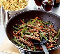 Stir-fried beef with hoisin sauce recipe - Recipes - BBC Good Food