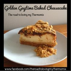 Oh. My. Goodness. I think I have outdone myself on this one.    Golden Gaytime Baked Cheesecake!!! This is a caramel and vani