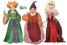 "the-ill-doctor: "" qtarts: ""Some Hocus Pocus! I finally watched this movie for the first time and decided to draw the cast for funisies "" ""(Photo set) Hocus Pocus Halloween Costumes, Halloween Movies, Holidays Halloween, Halloween Crafts, Halloween Decorations, Halloween Makeup, Disney Films, Disney Villains, Hermanas Sanderson"