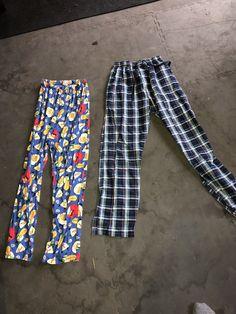 S-5XL Hanes Men/'s Woven 2pc Pajamas Set w//Drawstring Sleepwear 9 COLORS