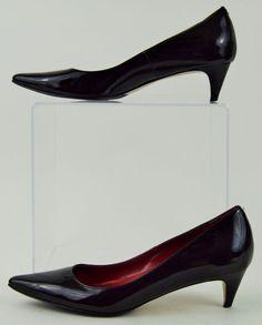Cole Haan Nike Air 5.5 Medium Womens Black Patent Leather Heels Used #ColeHaan #PumpsClassics