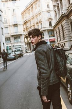 Luke Powell at PFW F/W 2015 by Stephane Yu | male model