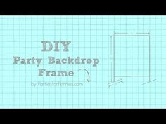 How to Build a DIY Backdrop - YouTube