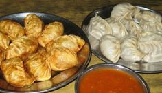 Steamed and Fried Momos @ Taste of Tibet, Brigade Road, Bangalore