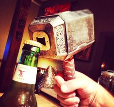 I smell a x-mas gift idea for Harry. Thor's Hammer Bottle Opener | $16.42