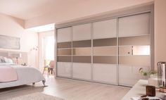 Fitted wardrobes sliding doors are a lot of fun to design and play around with. Because of the fact Sliding Wardrobe Designs, Sliding Wardrobe Doors, Sliding Doors, Fitted Bedroom Furniture, Fitted Bedrooms, Wooden Wardrobe, Built In Wardrobe, Wardrobe Ideas, Budget Bedroom