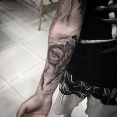 #bussola #pena #mapa #tattoobussola #tattoo #tatuagem #tattoobrasil…