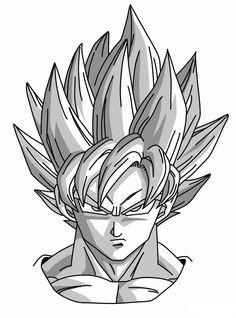 How to Draw Super Saiyan Goku from Dragon Ball Super Saiyan Goku, Super Goku, Goku Drawing, Ball Drawing, Manga Drawing, Drawing Tips, 3d Drawing Tutorial, Drawing Skills, Drawing Ideas