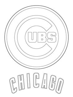 Chicago Cubs Baseball Coloring Pages - ?oloring Pages For All Ages Baseball Crafts, Baseball Party, Baseball Wreaths, Baseball Display, Sports Party, Chicago Cubs Baseball, Chicago Cubs Logo, Tigers Baseball, Chicago Cubs Cake
