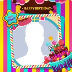 Select the best one, upload any photo in the frame picture and share with your friend or relative. Happy Birthday Frame, Birthday Photo Frame, Birthday Wishes Cake, Happy Birthday Pictures, Birthday Frames, Cake Frame, Birthday Candles, Burger Recipes, Cards