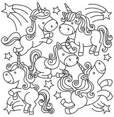 Creature Feature - Unicorn Party design (UTH10225) from UrbanThreads.com